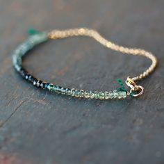 Ocean Sapphire Array Bracelet Premium Gemstone by ShopClementine, $108.00