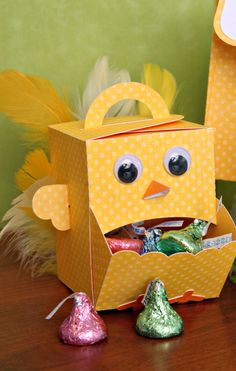 A Chick candy dispenser by Christine.