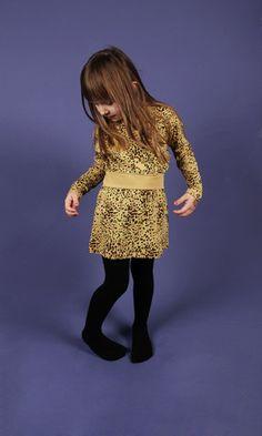Camo dress by Mini Rodini - Beige