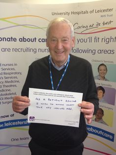 """Martin Caple, Patient Advisor: """"As a patient advisor I wish to know what the key issues are."""""""