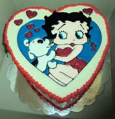 Betty Boop Birthday cake, with color flow decorations.
