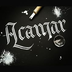 Calligraphy by BlueNibs ; name of a Star ;