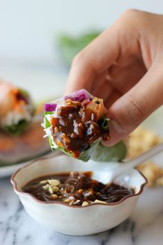 Shrimp Spring Rolls with Hoisin Peanut Dip by damndelicious #Spring_Rolls #Shrimp