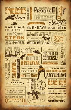 Firefly Quote Poster by Robin Montgomery