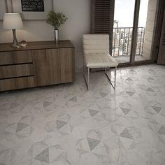 "EliteTile Karra 7"" x 8"" Hexagon Porcelain Field Tile"