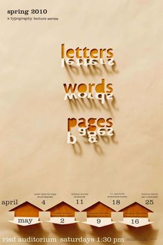 Afiche con juego de sombras! | Letters Words Pages | Spring 2010
