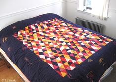A Jillian Tamaki quilt. Apparently she's still learning how to quilt...right.