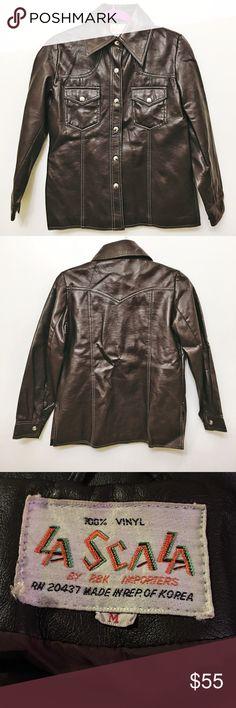 La Scala Dark Brown Jacket 100% Vinyl. In perfect condition despite being a couple of years old. La Scala Jackets & Coats