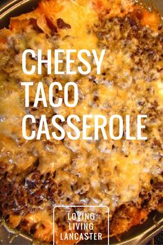 healthy food recipes chiken dinner cooking I love a good and easy dinner recipe. My husband loves all things cheese and taco. This Cheesy Taco Casserole Recipe is the perfect combination of both! Mexican Food Recipes, New Recipes, Favorite Recipes, Recipies, Beef Dishes, Food Dishes, Tex Mex, Enchiladas, Slow Cooker Recipes