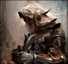 Craig Mullins.  I am a big fan of his work. He displays an impressive understanding of light and texture.  He can be found at: www.goodbrush.com
