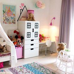 That's how you can decorate kid's room with IKEA Attic Renovation, Attic Remodel, Ikea Stuva, Hacks Ikea, Slanted Walls, Attic Wardrobe, Ikea Decor, Attic Rooms, Attic Bathroom