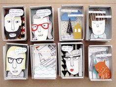 "Mutmacher ""The Instant Comfort Pocket Box"" Geniale Idee! Matchbox Crafts, Matchbox Art, Art For Kids, Crafts For Kids, Art Diy, Middle School Art, Little Boxes, Art Plastique, Elementary Art"