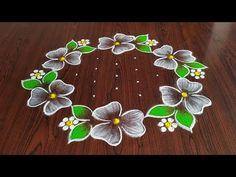 Indian Rangoli Designs, Rangoli Designs Latest, Rangoli Designs Flower, Rangoli Patterns, Rangoli Ideas, Rangoli Designs With Dots, Rangoli Designs Images, Flower Rangoli, Rangoli With Dots
