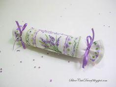 Cross stitch Lavender needleroll