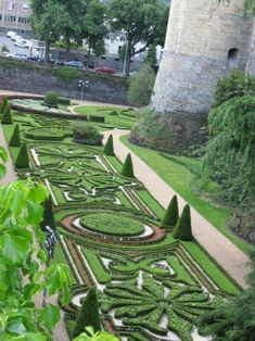 Angers Chateau parterre garden, France.  Love the parterre style.