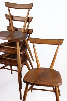 vintage 1950s Ercol stacking chairs by H is for Home