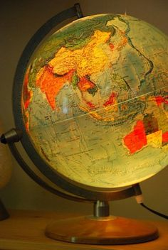 Vintage Illuminated Globe Light Up Globe by TheRelicTrail on Etsy