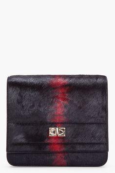 GIVENCHY //  BLACK PONY HAIR FLAP BAG