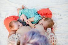 Tandem Breastfeeding - Natalie Bee Photography in Spokane, Washington