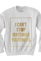 Can't Stop Sweatshirt (Gold Foil on White) by Tyler Oakley on DistrictLines (: https://www.districtlines.com/83659-Can-t-Stop-Sweatshirt-Gold-Foil-on-White/Tyler-Oakley