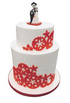 Dia de los Muertos wedding cake topper