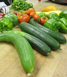 Delicious peppers, tomatoes, herbs and cucumbers all #organic and used in our kitchens.