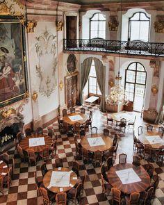 WEBSTA @ caffeinecouture - The Breakfast Room by the fabulous in Salzburg, Austria Palace Interior, Cafe Interior, Interior And Exterior, Interior Design, Luxury Restaurant, Restaurant Bar, Feldkirch, Salzburg Austria, Antique Interior