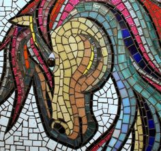 images of mosaic horse patterns - Google Search