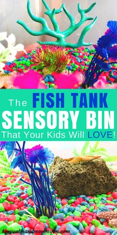 The Ultimate Fish Tank Sensory Bin! - Keep Calm And Mommy On Fish Tank Sensory Bin! A great sensory bin idea for kids! A fish tank that they can play in! Sensory activities for kids, sensory activitie Sensory Activities For Preschoolers, Fish Activities, Infant Activities, Toddler Activities For Daycare, Preschool Ideas, Classroom Activities, Summer Activities, Learning Activities, Classroom Ideas