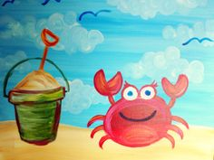 I am going to paint Sandy Adventure at Pinot's Palette - Ellicott City to discover my inner artist! Easy Canvas Painting, Summer Painting, Beach Painting, Pinots Palette, Painting For Kids, Pottery Painting, Easy Drawings For Kids, Castle Painting, Crab Painting
