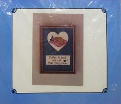 Karen's Kreations Better To Feed One Cat Than Many Mice Cross Stitch Kit Sealed $15.99