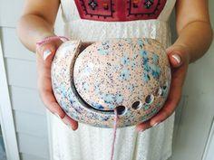 Handmade Ceramic Yarn Bowl #Pantone2016 #zbesties What do you think? 20% off here:  http://eepurl.com/b2kYUL
