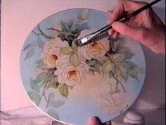 China Painting Tutorial - Peace Roses - Barbara Duncan