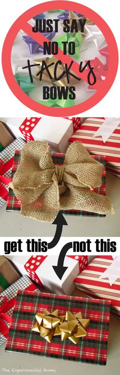 "Just say ""NO"" to tacky bows: how to make pretty self-stick bows!"