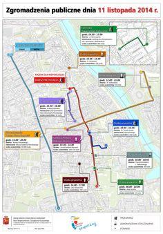 Mapka z jutrzejszymi wydarzeniami, może usprawnić niektórym podróże i zaplanowanie czasu.  źródło:tvnwarszawa.tvn24.pl  #11listopada #Warszawa #swietoniepodleglosci #mapa #jakdojechac #wydarzenia