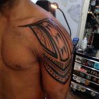 Tribal shoulder piece by Valley Ink