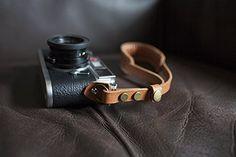 Handmade Genuine Leather Camera Strap Wrist Strap for Film Evil and Dslr Camera Light Brown Color: Amazon.ca: Camera & Photo