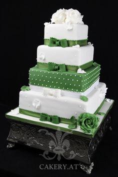 Green Sensation wedding cake, white and green ~ Austria