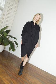 Black Cocoon Dress