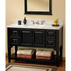 American Shaker's timeless design themes are translated in this vanity series for any setting, from city condo to remodeled farm house or mountain hideaway. Glass Bathroom, Bathroom Kids, Bathrooms, Bathroom Vanities, Condo Bathroom, Bathroom Stuff, Bathroom Fixtures, Master Bathroom, 48 Vanity