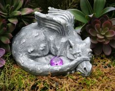 Mother & Baby Dragon For Your Fairy Gardens Outdoor Garden Art   ☀ This listing is for the beautiful Mother Dragon AND her Baby Hatchling - the sign