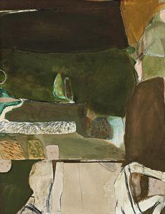 thunderstruck9:  Brett Whiteley (Australian, 1939-1992), Green Landscape, 1962. Mixed media with collage on paper, 66 x 50 cm.
