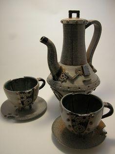 Steampunk tea set by Blue-Pixie-Stick.deviantart.com