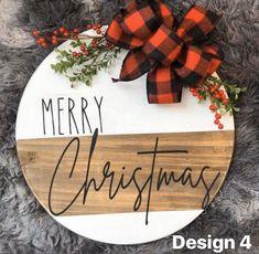 Merry Christmas Door Hanger  Holiday Door Hangers  Christmas | Etsy
