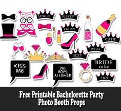 Have some fun on Bachelorette party with these naughty, fun and adorable Free Printable Bachelorette Party Photo Booth Props. There are cute and naughty speech bubble props Bachelorette Photo Booth, Wedding Photo Booth Props, Bachelorette Party Decorations, Bridal Shower Props, Photo Editing, Ideas Party, Party Props, Party Party, Party Games