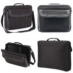 Classic Laptop Bag Case Fits - 15-15.6 Inches Carry Handle Multiple Storage