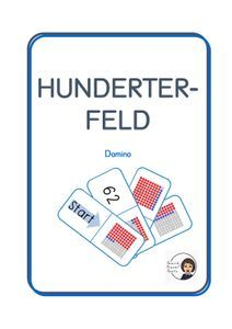 Domino - Hunderterfeld – Unterrichtsmaterial im Fach Mathematik Monopoly, Teaching, Philosophy, Agriculture Farming, School Social Work, Home Economics, Multiplication Tables, Physical Science, Computer Science