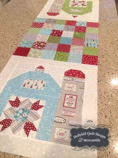 Our Christmas Silo Barn Kit is available on our website www.hollyhillquiltshoppe.com while they last! Many of the fabrics used in this project are discontinued so be sure to grab your kit as soon as you can!