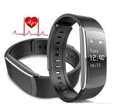 Dragon Hub Smart Wristband Fitness Tracker Heart Rate Monitor IP67 Waterproof Bluetooth Smart watch Bracelet for Android and IOS *** Want to know more, click on the image. (This is an affiliate link and I receive a commission for the sales)