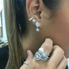 Pandora earrings, rings #PANDORA #PANDORAearring